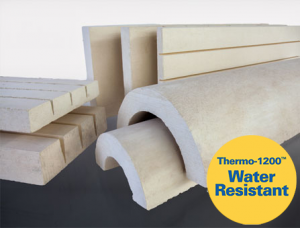 Thermo 1200 water resistant calcium silicate for Moisture resistant insulation
